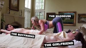 Brandi Love si fotte un diciottenne durante il massaggio erotico