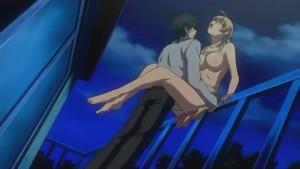 Matrigna hentai fottuta sul balcone dal figliastro